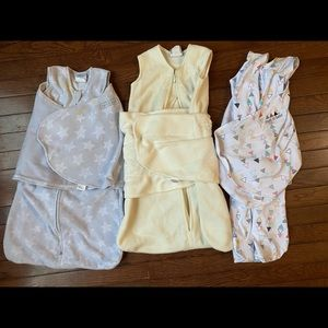 Set of 3 Halo Sleep Swaddles for Baby size Small